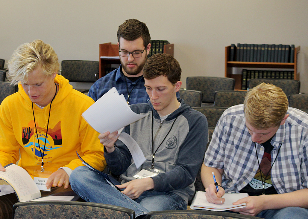Students studying at the 2018 Timothy Conference